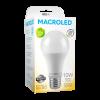 Caja de lámpara LED 10W A60 luz cálida - Macroled