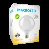 Caja de lámpara LED 14W globo G95 E27 luz cálida - Macroled