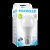 Caja de lámpara LED 15W A60 luz fría - Macroled