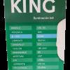 Caja de lámpara LED bulbón 50W E27 luz fría, foto lateral - King