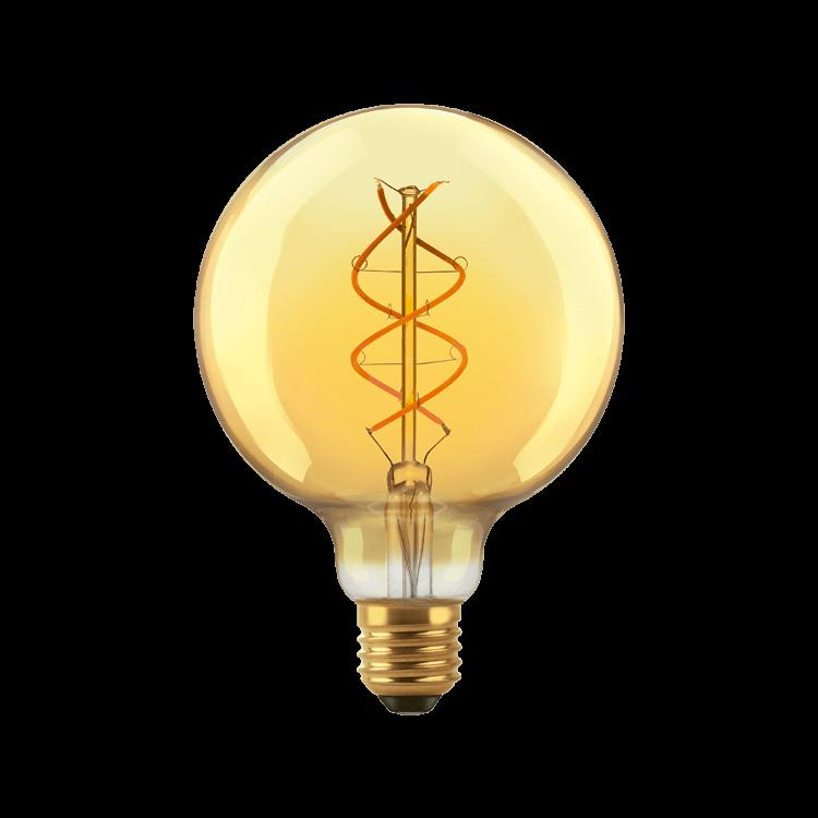 Lámpara LED 5W Globo Golden E27 luz cálida - Macroled