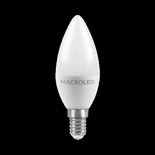 Lámpara LED 6W Vela E14 - Macroled