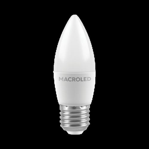 Lámpara LED 6W Vela E27 - Macroled