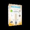Caja de lámpara LED 8W Globo Deco G125 luz cálida - Macroled