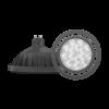 Lámpara LED AR111 15W GU10 PVC negra - Macroled