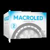 Caja de lámpara LED AR111 15W GU10 PVC luz fría - Macroled