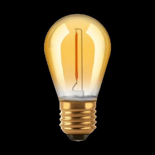 Lámpara LED Gota Golden 1W S14 E27 luz cálida - Macroled