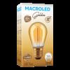 Caja de lámpara LED Gota Golden 1W S14 E27 luz cálida - Macroled