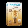 Caja de lámpara LED Gota Golden 3W G45 E27 luz cálida - Macroled