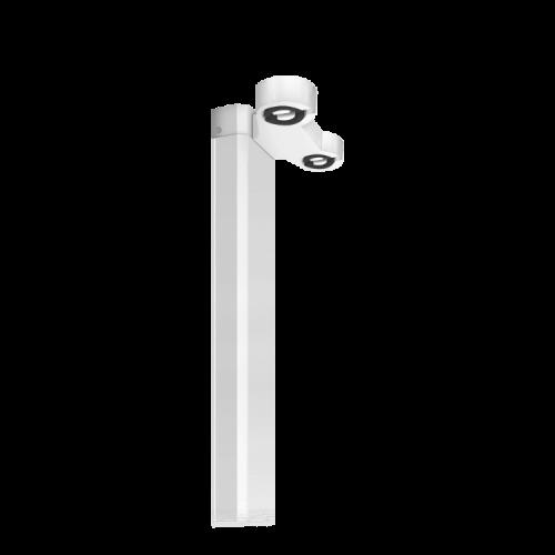 Listón LED vacío doble, con zócalos, de 120cm - Macroled