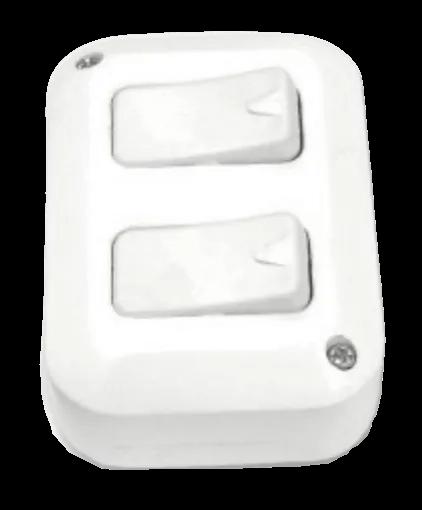 Llave exterior blanca con 2 puntos - TAAD