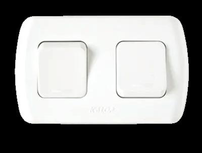 Llave exterior blanca con 2 puntos, línea Tekna - Kalop
