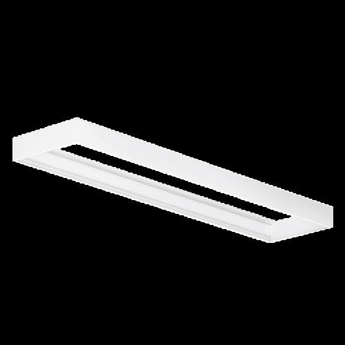 Marco LED aluminio blanco para plafón 30x120 - Macroled