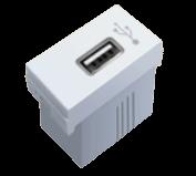Módulo blanco con toma USB - TAAD