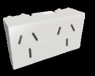 Módulo blanco con doble tomacorriente combinado - TAAD