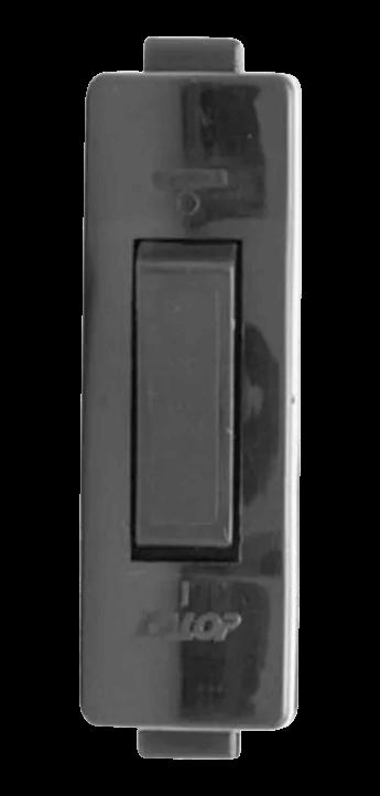 Perilla de velador rectangular negra - Kalop