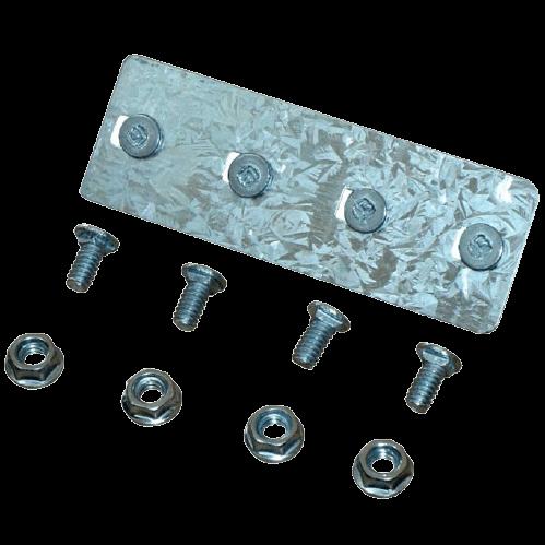Placa unión metálica con bulones para bandeja portacables - Stucchi