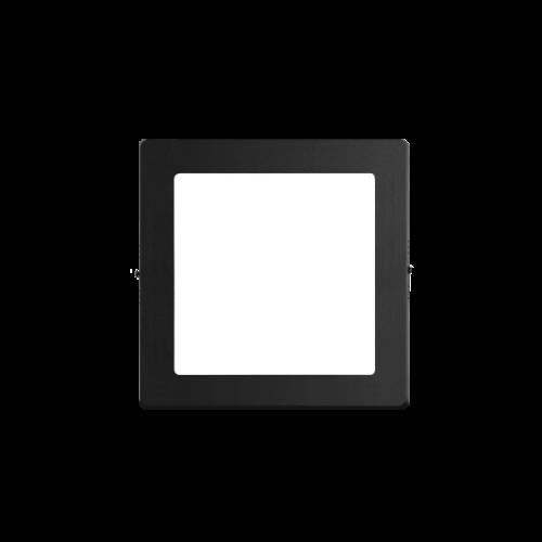 Plafón cuadrado 12W color negro - Macroled