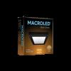 Caja plafón cuadrado 12W color negro luz cálida - Macroled
