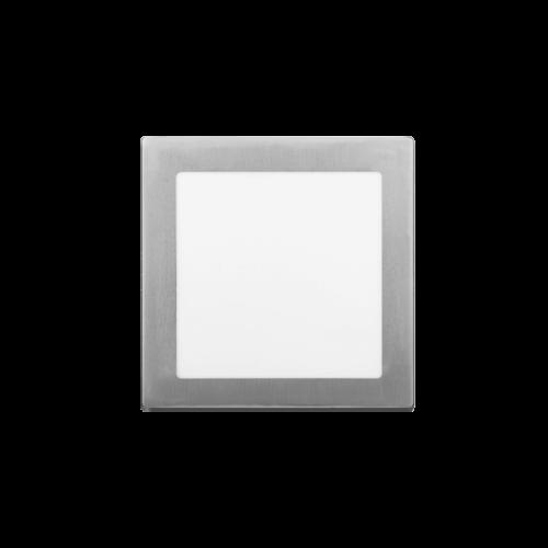 Plafón cuadrado 12W color platil - Macroled