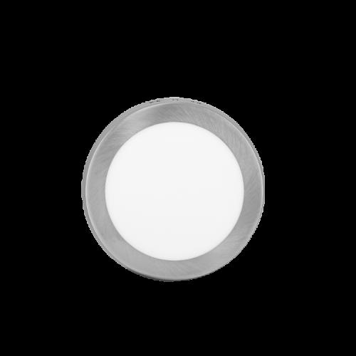 Plafón redondo 12W color platil - Macroled