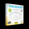 Caja de plafón redondo 18W color blanco luz cálida - Macroled