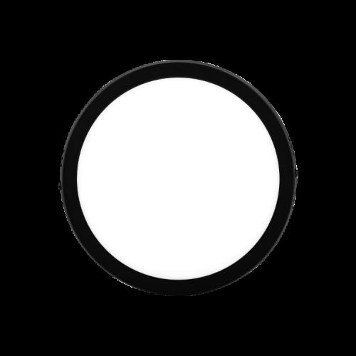 Plafón redondo 18W color negro - Macroled
