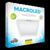 Caja de plafón cuadrado 24W color blanco luz fría - Macroled