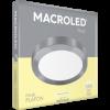 Caja de plafón redondo 24W color platil con luz cálida - Macroled