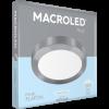 Caja de plafón redondo 24W color platil con luz fría - Macroled