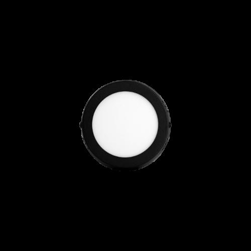 Plafón redondo 6W color negro - Macroled