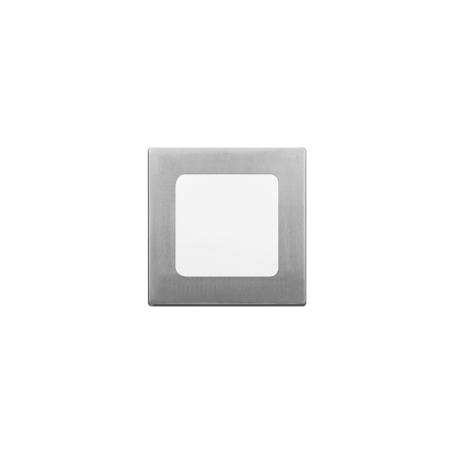 Plafón cuadrado 6W color platil - Macroled