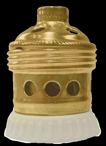 Portalámparas dorado de ventilador - Porcelectric