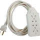 Prolongador blanco tripolar con zapatilla multinorma 4 tomas
