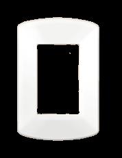 Tapa para bastidor rectangular blanca, línea Spot - TAAD