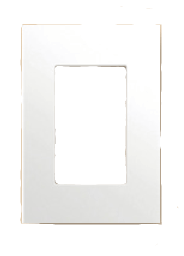 Tapa para bastidor rectangular blanca, línea ZEO - TAAD
