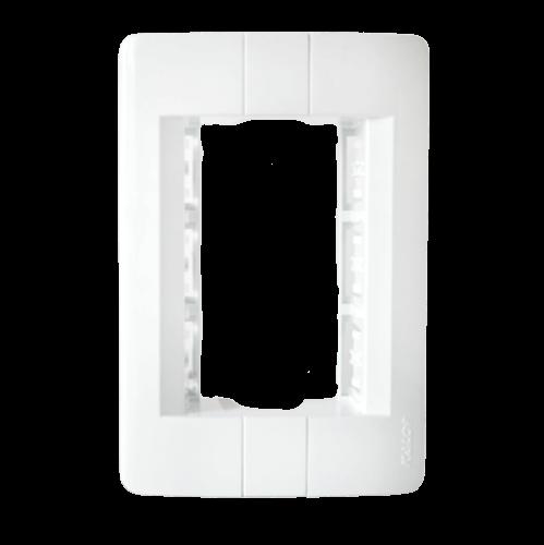 Tapa para bastidor rectangular blanca, línea Donna - Kalop