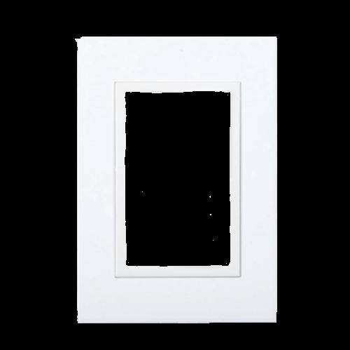 Tapa para bastidor rectangular blanca, línea Zen - Kalop