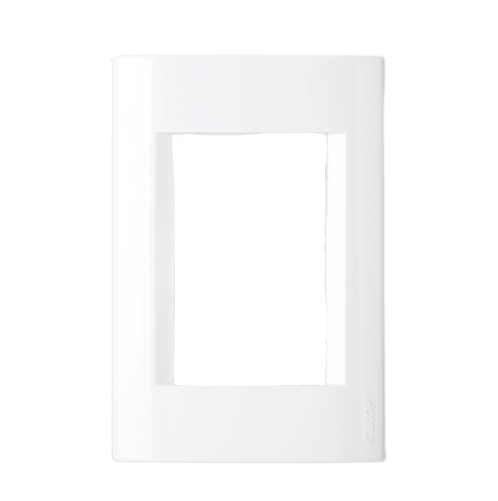 Tapa para bastidor rectangular blanca, línea Civil - Kalop