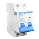 Llave térmica bipolar 6KA interruptor azul, foto perfil - Chint