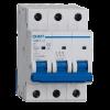 Llave térmica tripolar 6KA interruptor azul, foto perfil - Chint