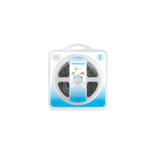 Blister de tira LED luz fría 2835 12W - Macroled