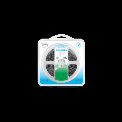 Blister de tira LED luz verde 2835 IP20 12W - Macroled