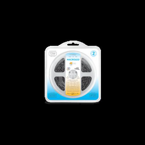 Blister de tira LED luz cálida 5050 IP20 14.4W - Macroled