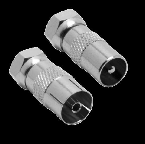 Unión coaxil metálica con chupetes y conector - PINI