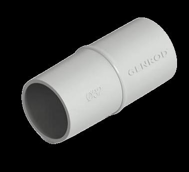 Unión cupla PVC gris - Genrod