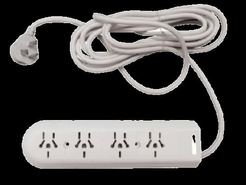 Zapatilla de 4 tomas multinorma con cable y llave térmica - Kalop