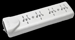 Zapatilla de 4 tomas multinorma sin cable, con llave térmica - TAAD