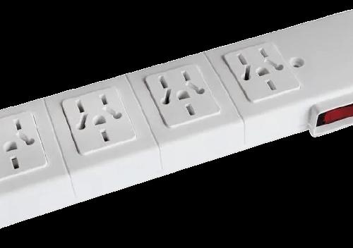 Zapatilla 4 normas multinorma sin cable, con llave térmica - Kalop