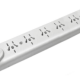 Zapatilla de 6 tomas multinorma sin cable, con llave térmica - TAAD